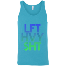 Load image into Gallery viewer, LFT HVY SHT Lift Heavy Shit fitness workout gym inspiration motivation mantra. get fit get healthy get living fitness athletics clothing and apparel bodybuilding powerlifting weightlifting power lifting lift muscle get big gains lft hvy sht getfitliving get.fit.living gete fit living @get.fit.living @GFL_Colton Performance tank top tanks tank