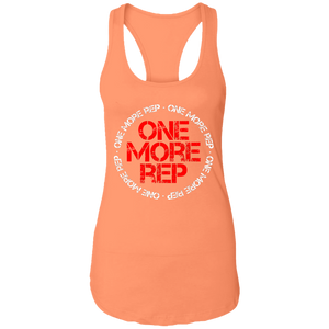 Get fit living one more rep fitness health workout gym apparel for athletics one more rep tank top racerback tee shirt t-shirt tshirt