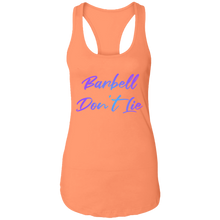 Load image into Gallery viewer, Barbell Don't Lie Barbell Weight Lifting Fitness Women's girls who lift racerback tank top crossfit girls womens gym apparel tank top yoga strength