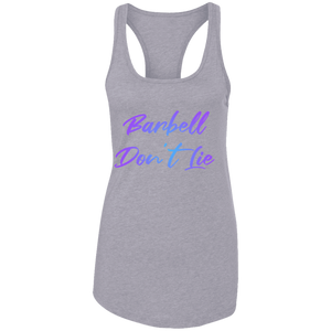 Barbell Don't Lie Barbell Weight Lifting Fitness Women's girls who lift racerback tank top crossfit girls womens gym apparel tank top yoga strength