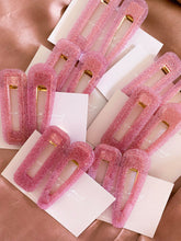 Load image into Gallery viewer, Bubblegum Glitter Clips - PRE ORDER