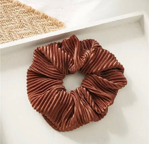 Crinkle Scrunchie - Chocolate