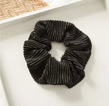 Load image into Gallery viewer, Crinkle Scrunchie - Black