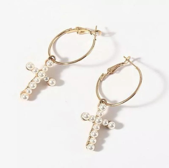 Mary Cross Earrings - PRE ORDER