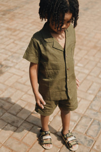 Vintage worker suit in military green