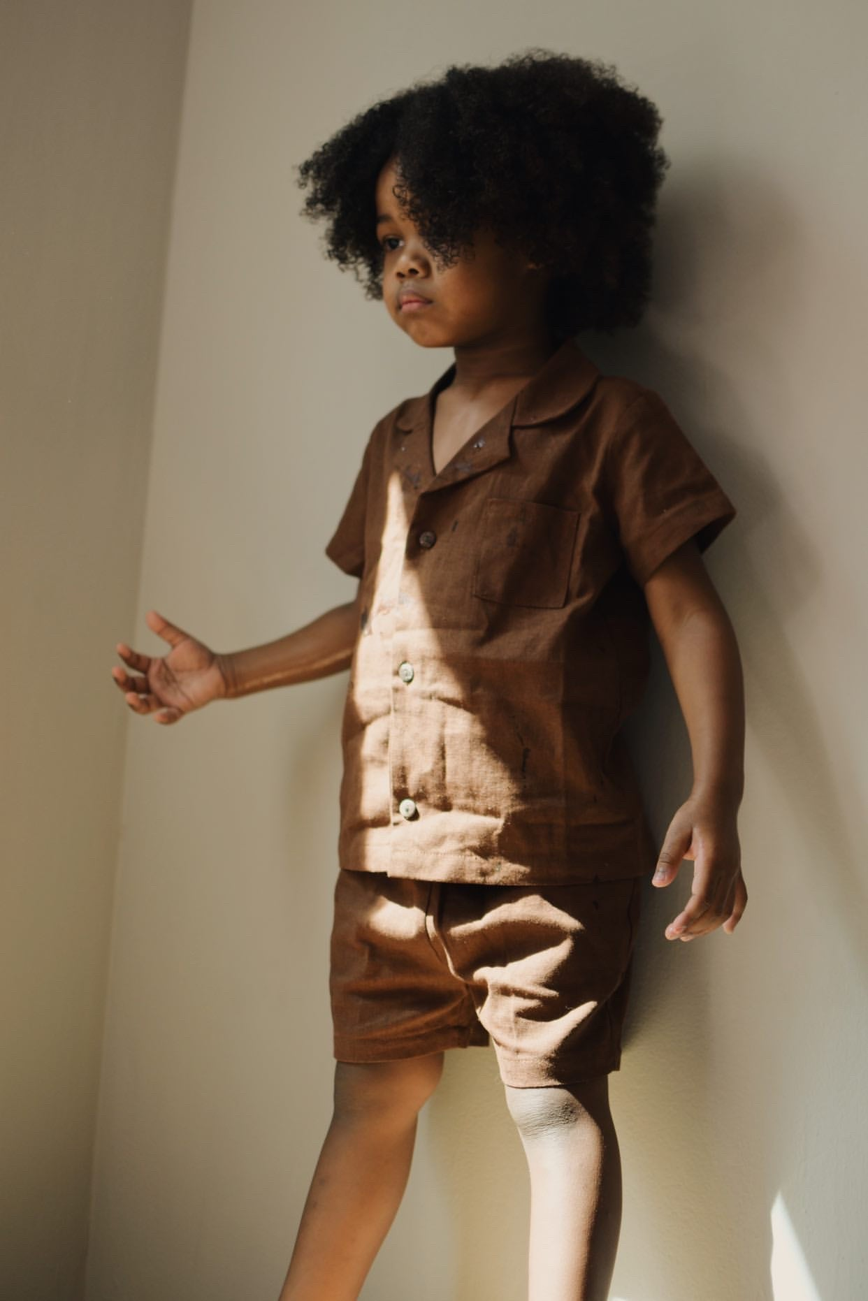 Vintage worker suit in Chocolate