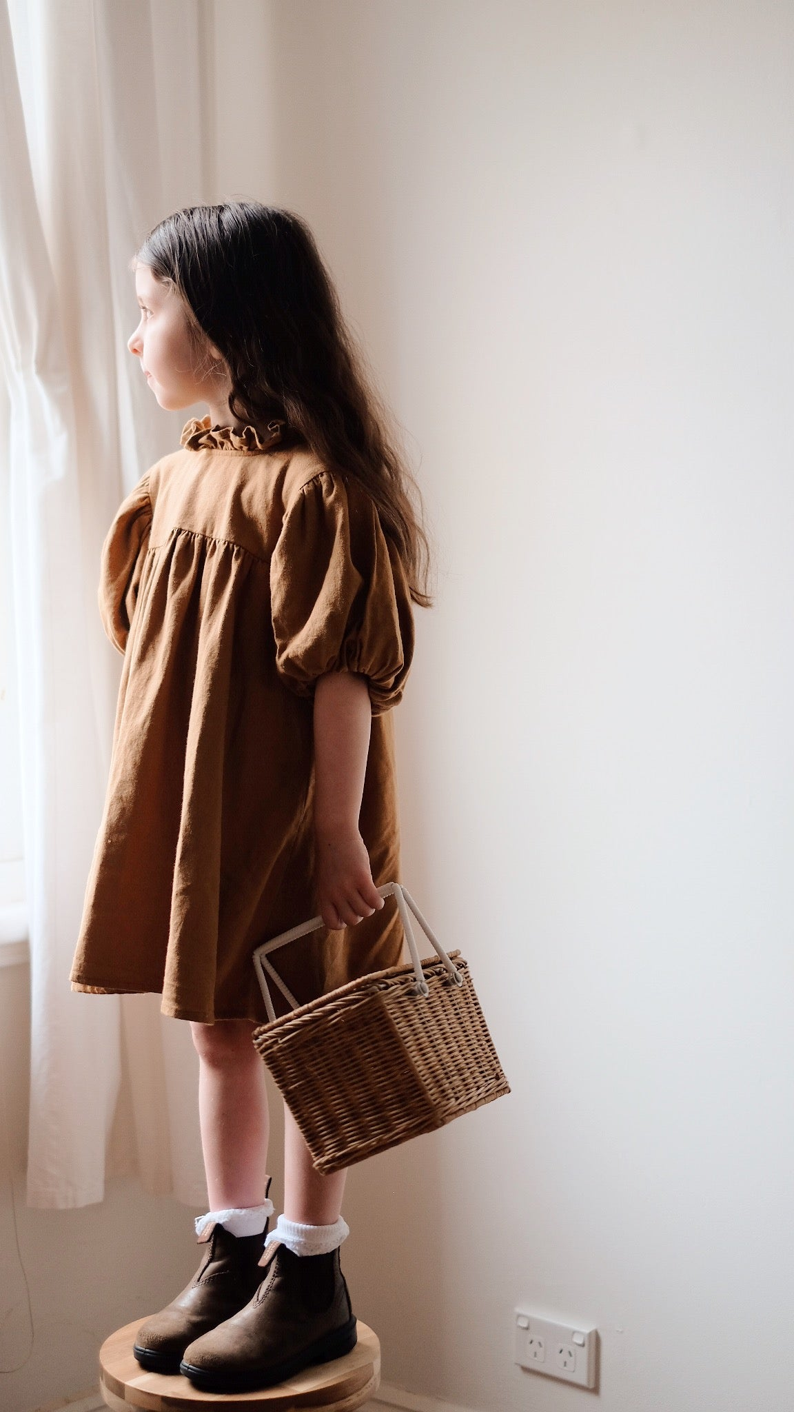 Mimi Dress Ginger Brown