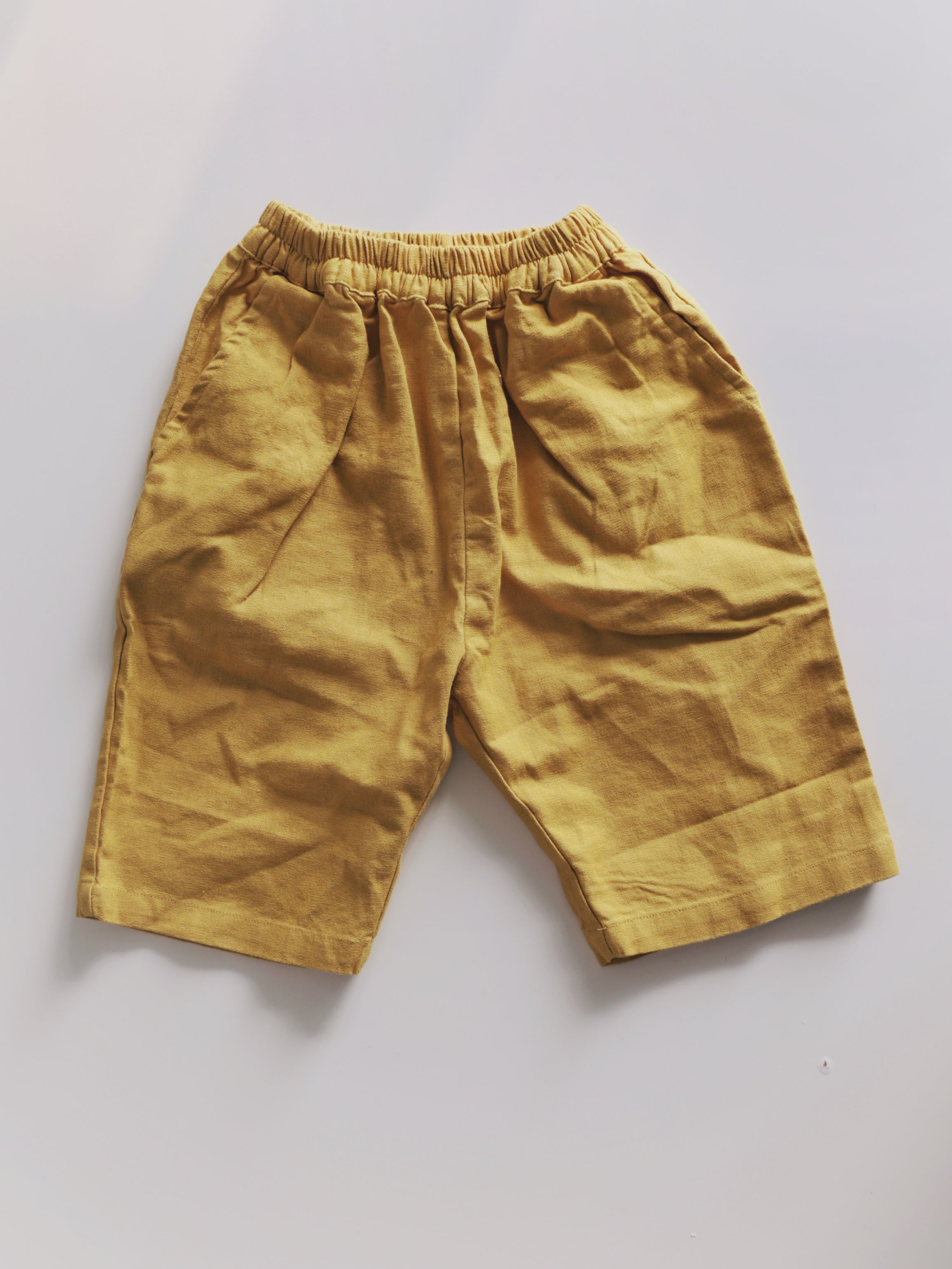 Everyday Essentials Linen Pants Mustard