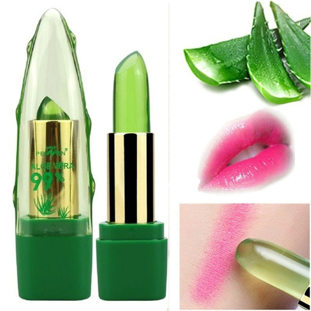 Natural Aloe Vera Temperature Color-Changing Lip Balm