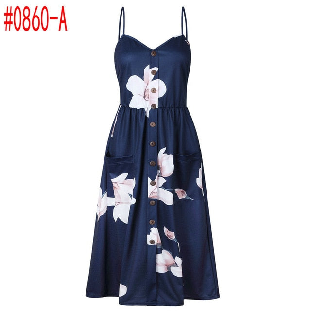 Women Summer Dress 2019 Vintage Sexy Beach Dress