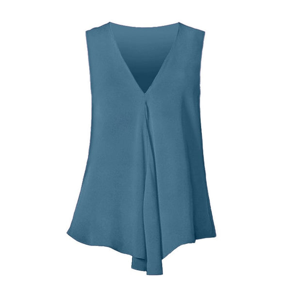 Women Fashion Summer Sexy Sleeveless V Neck Shirt