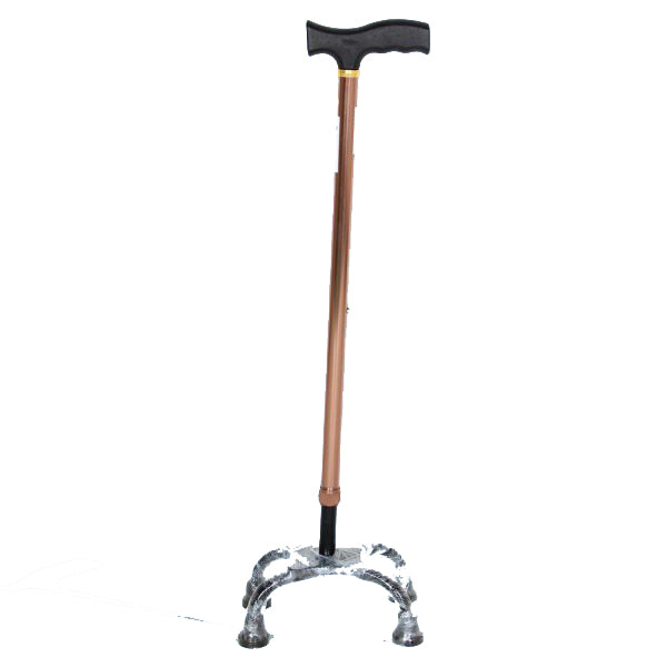 Walking Stick - Hero Mediva Aluminium Cane with Broad Base (Brown)     MHL - 2010 - BR