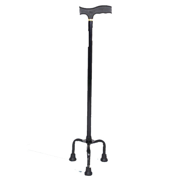Walking Stick - Hero Mediva Aluminium Cane with Broad Base (Black)     MHL - 2008 - BL