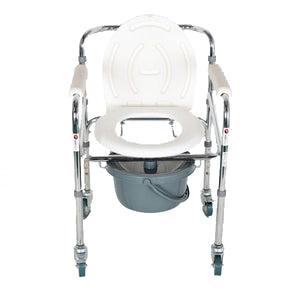 Commode Chair - Hero Mediva Commode Chair with Height Adj, wheels and Arms    MHL - 3003