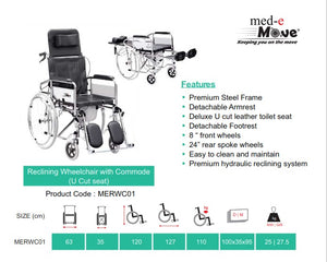 Recliner wheelchair - Med-eMove