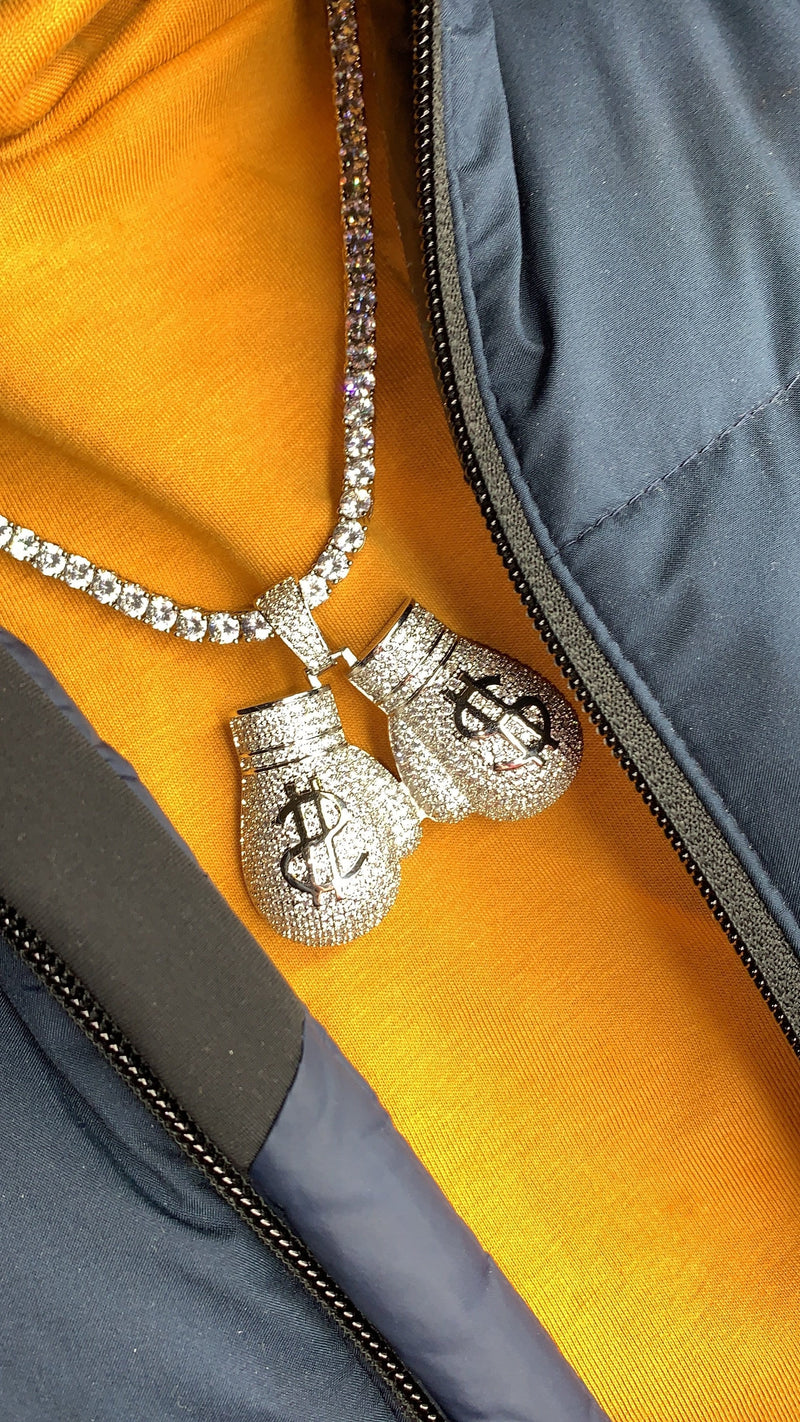 Luxe Money Boxing Gloves - Silver