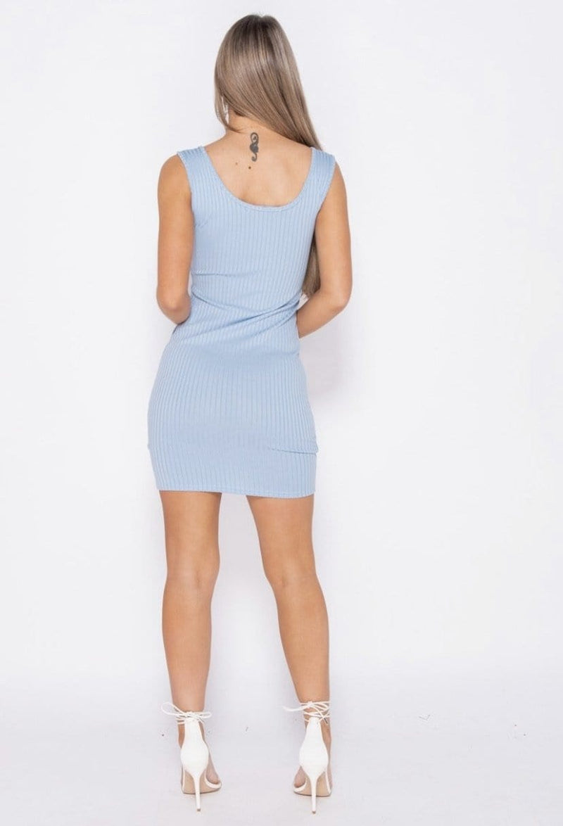 Alexa Mini Dress - Baby Blue