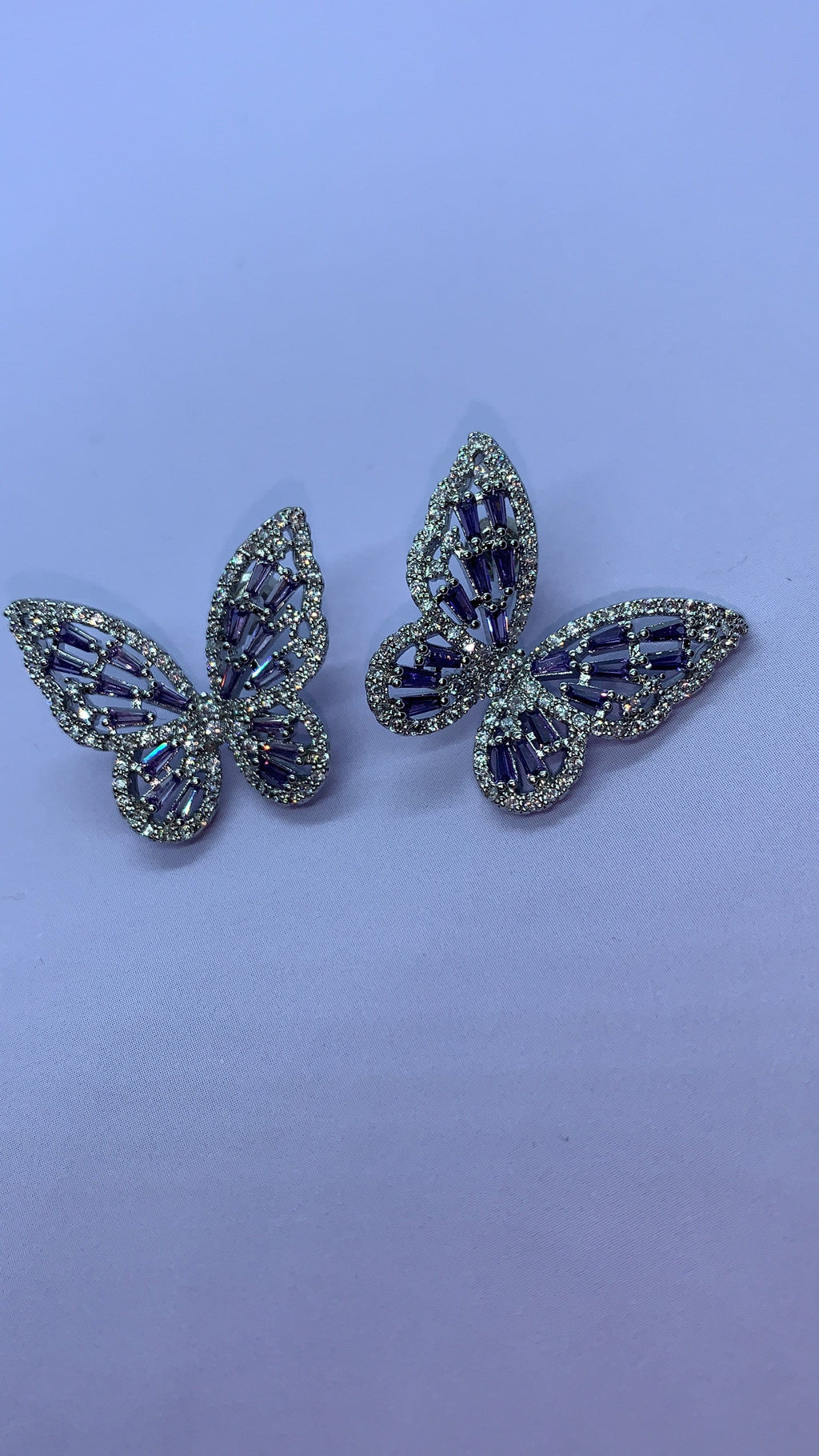 Flutter Earrings - Purple