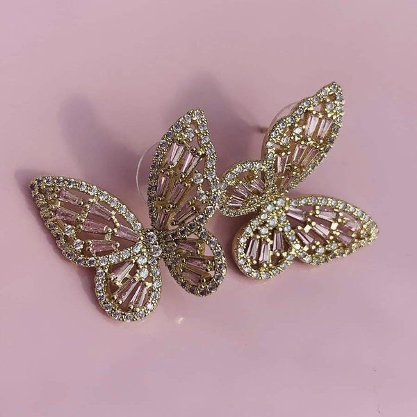 Flutter Earrings - Gold