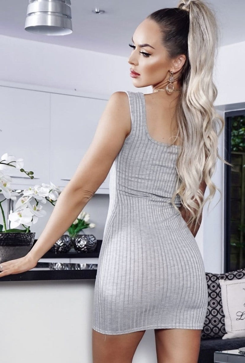Alexa Mini Dress - Grey