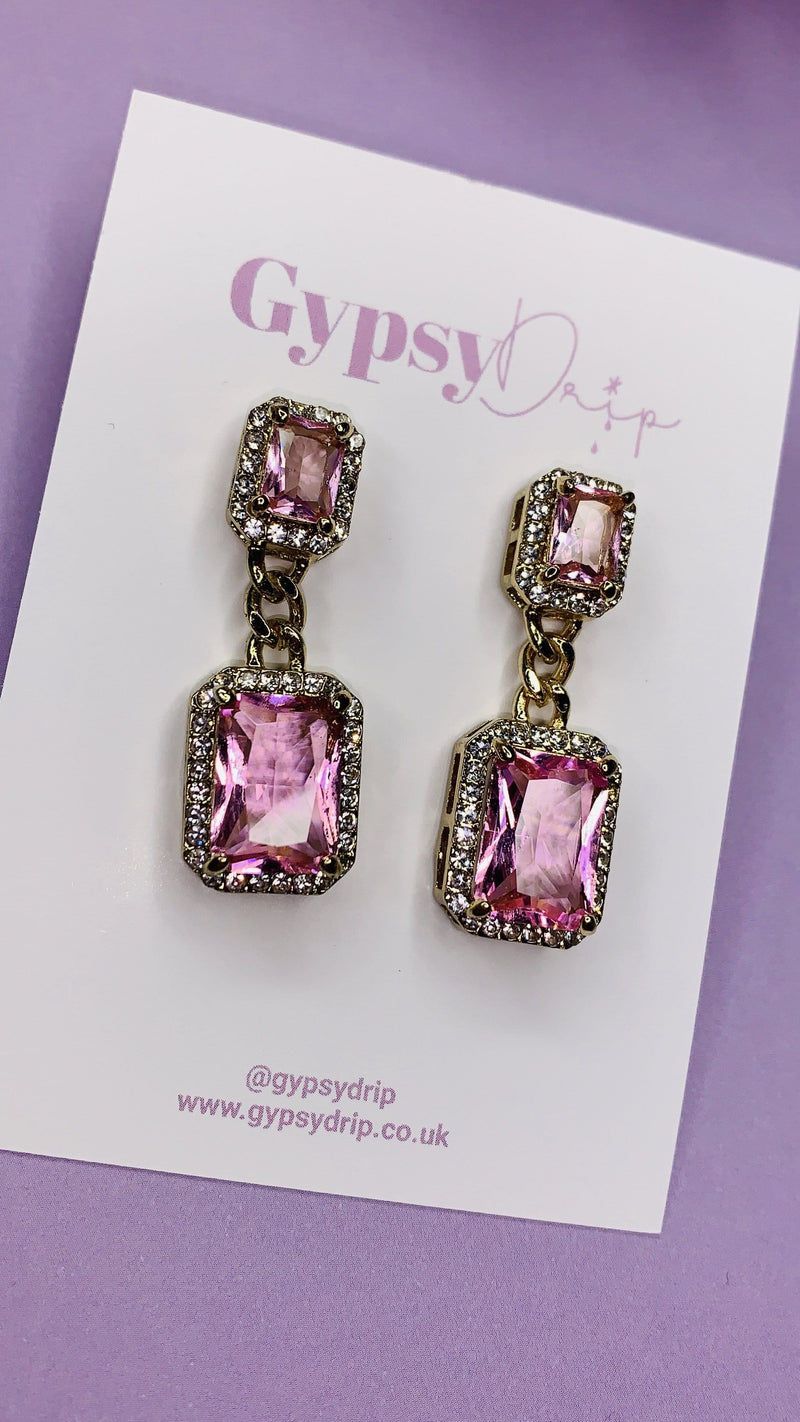 Macy Earrings - Pink