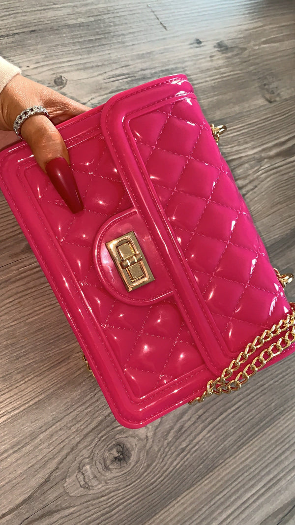 Polly Quilted Mini - Hot Pink
