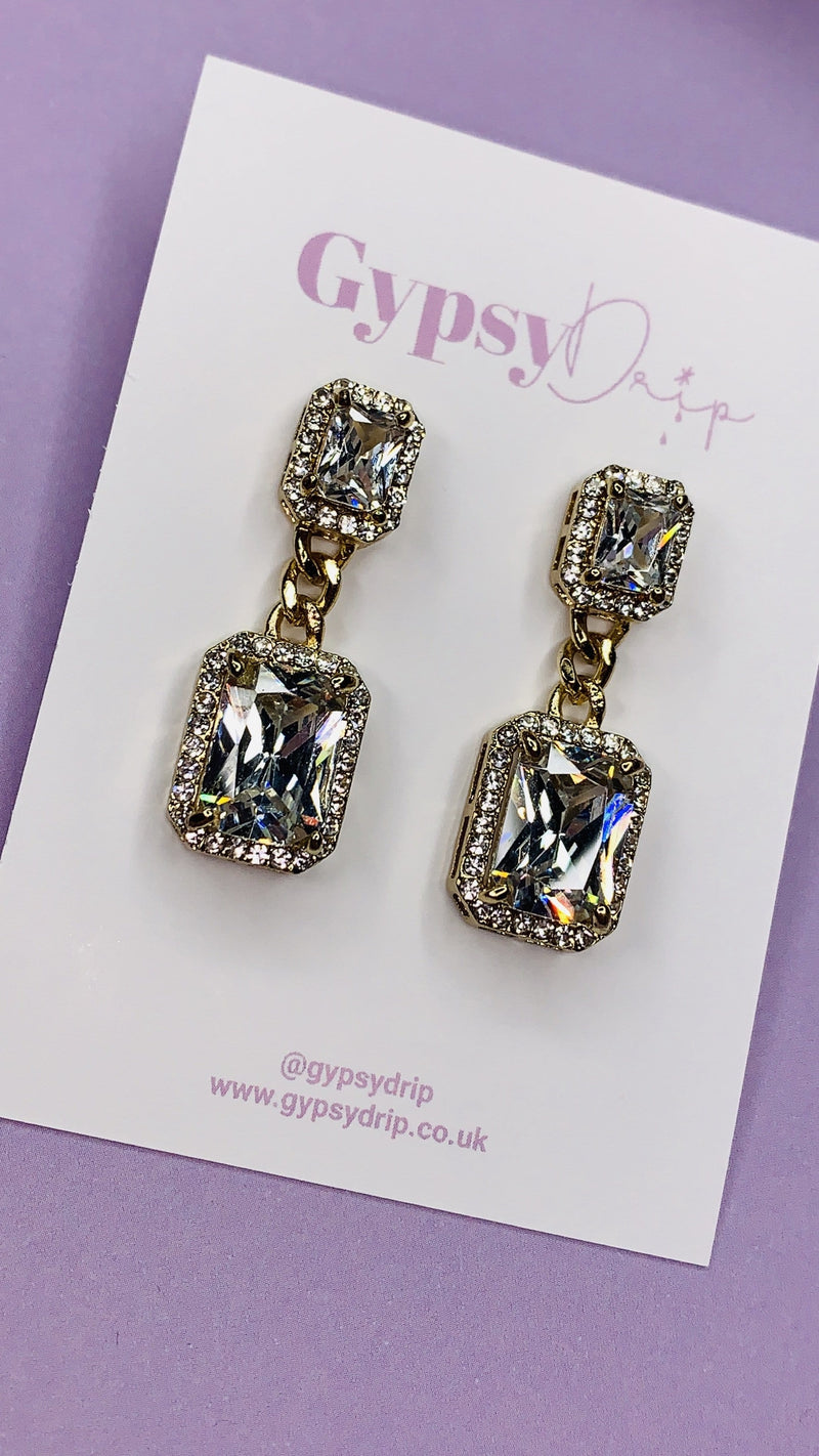 Macy Earrings - Crystal