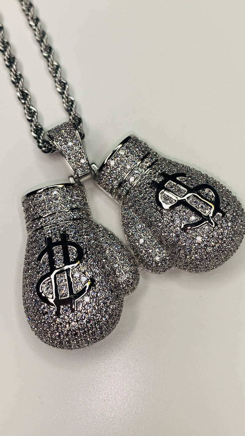 Money Boxing Gloves - Silver