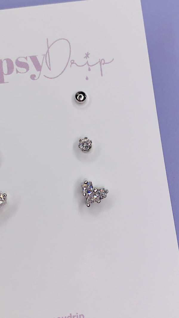 Heart Stud Set