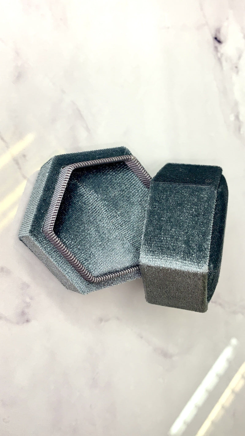 Luxe Grey Ring Box