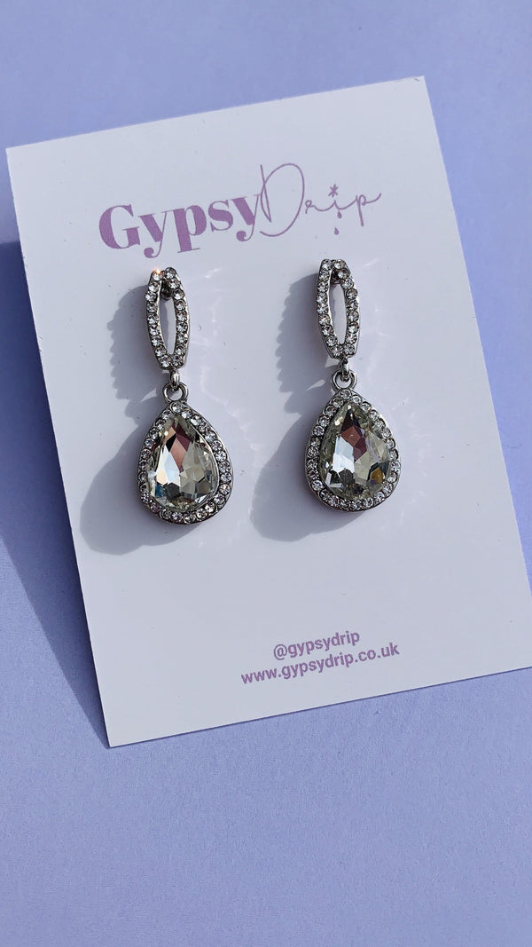 Noelle Earrings - Crystal