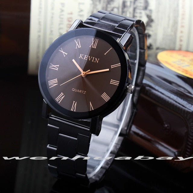 Fashion Black Round Dial Women Watches