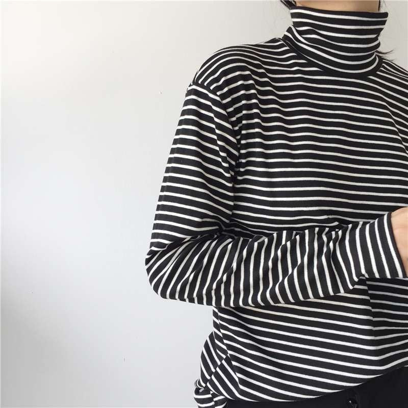 Women Turtleneck Korean Style T Shirt