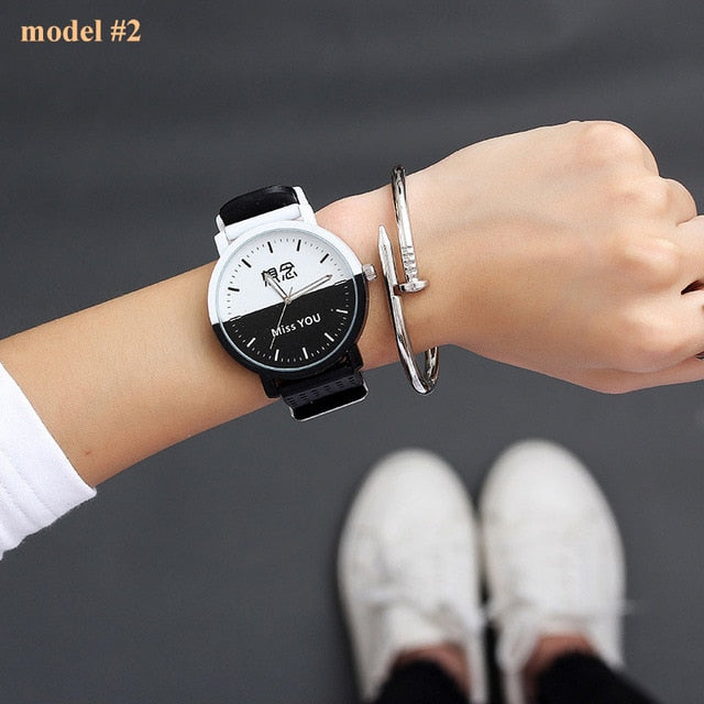 Simple Silicone Women Wrist Watch