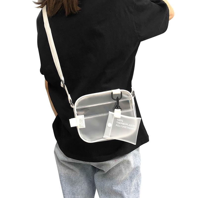 Causual PVC Transparent Clear Crossbody Bag