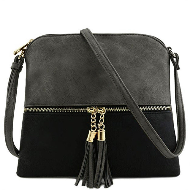 Tassel Crossbody Messenger Bag