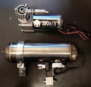 "Skully Customs 5"" Air Ride with ""Fast Up"" Air Tank Kit"