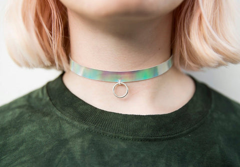 oring holographic choker