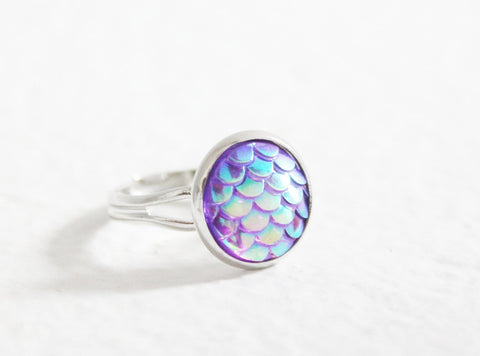 purple mermaid ring