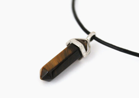 tigers eye crystal necklace