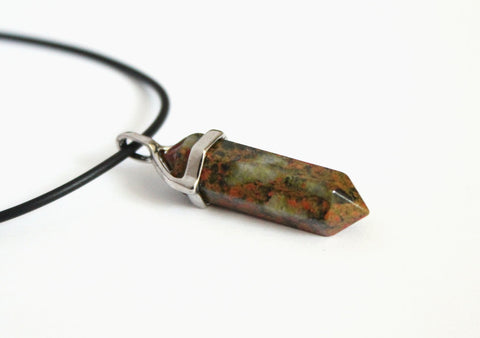 unakite crystal necklace