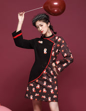 Load image into Gallery viewer, Tiger Embroidery Qipao Cheongsam