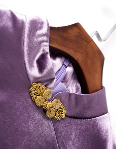 Bright Purple Qipao Cheongsam