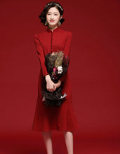 Load image into Gallery viewer, Banquet Red Qipao Cheongsam
