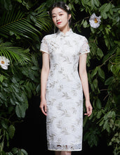 Load image into Gallery viewer, Openwork Lace Qipao Cheongsam