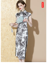 Load image into Gallery viewer, Landscape Long Qipao Cheongsam