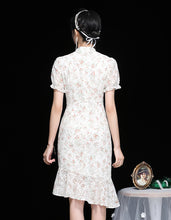 Load image into Gallery viewer, Openwork Embroidery Qipao Cheongsam