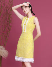 Load image into Gallery viewer, Yellow Alchemilla Qipao Cheongsam