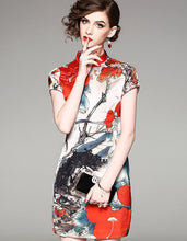 Load image into Gallery viewer, Red Painting Qipao Cheongsam