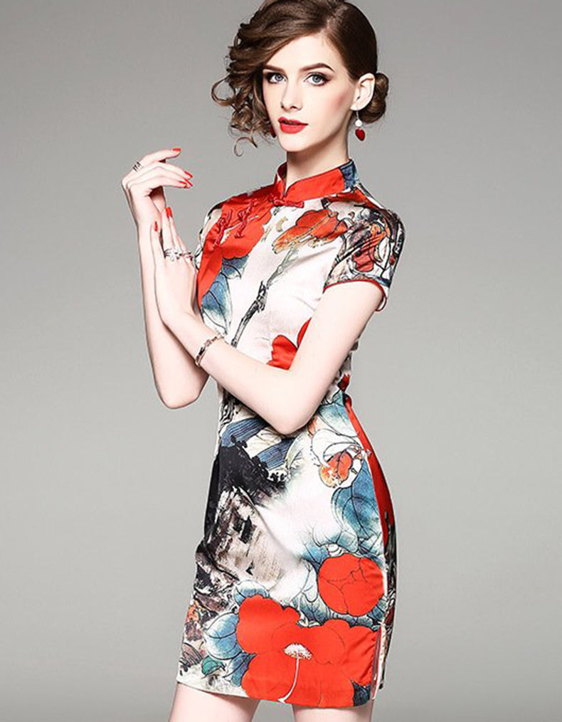 Red Painting Qipao Cheongsam